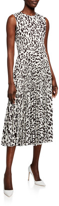 Jason Wu Collection Snow Leopard Printed Crepe Dress