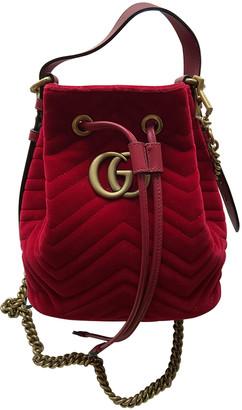 Gucci Marmont Red Velvet Backpacks