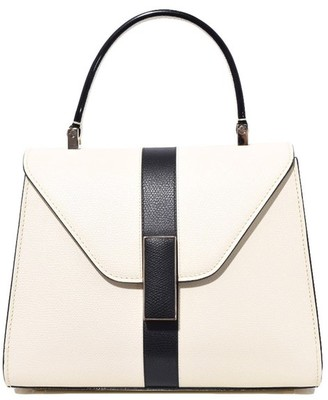 Valextra Iside Mini Bag in White/Black
