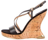 Salvatore Ferragamo Shade Leather Wedges w/ Tags