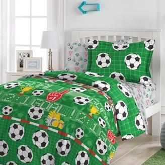 Dream Factory Soccer Field 5-7 Piece Comforter Set
