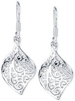 Unwritten Filigree Drop Earrings in Sterling Silver