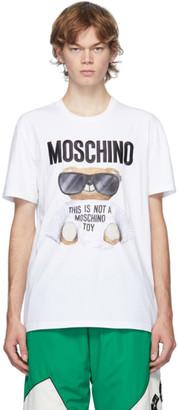 Moschino White Micro Teddy Bear T-Shirt