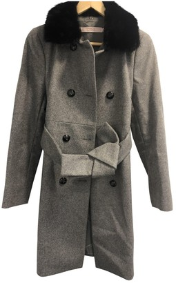 Valentino Red Grey Wool Coat for Women