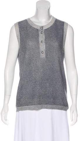 Chanel 2015 Cashmere-Blend Sleeveless Top