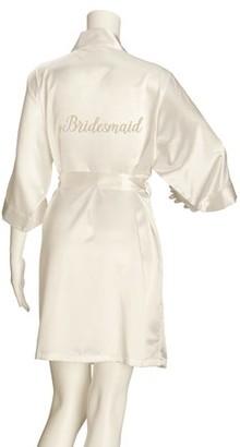 Lillian Rose Ivory Satin Bridesmaid Robe (S/M)