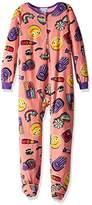 Komar Kids Big Girls' Denim Patches Blanket Sleeper