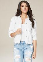 Bebe White Denim Jacket