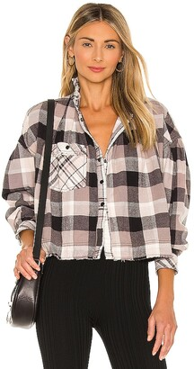 Free People Emily Plaid Top