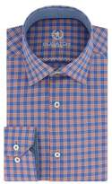 Bugatchi Men's Trim Fit Plaid Dress Shirt