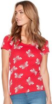 M&Co Butterfly scoop neck t-shirt