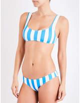 Solid & Striped Elle soft-cup striped bikini top