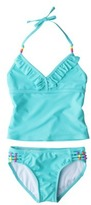 Xhilaration Girls' 2-Piece Tankini Swimsuit