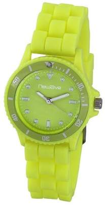 Newave nwh218fj - Unisex Watch - Analogue Quartz - Yellow Dial - Silicone Wristband Multi-Coloured