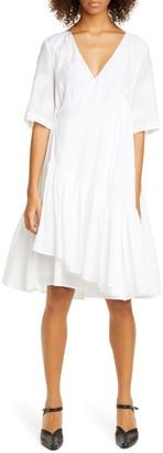 Merlette New York Aronia Floral Cotton & Silk Wrap Dress