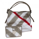 Burberry White Cotton Handbag