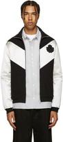 Alexander McQueen Black & Ivory Logo Zip-Up Sweater