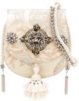 Christian Pellizzari jewel tassel jacquard flap bag