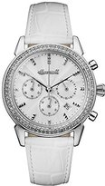 Ingersoll Women's Automatic Stainless Steel and Leather Casual Watch, Color:White (Model: I03901)