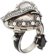 Alexander McQueen Heart Embellished Locket Ring