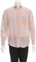Brunello Cucinelli Linen Plaid Shirt
