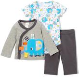 Taggies Gray Elephant Bodysuit & Pants Set - Infant