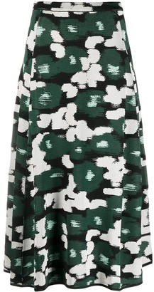 Christian Wijnants Abstract Pattern Pique-Knit Skirt