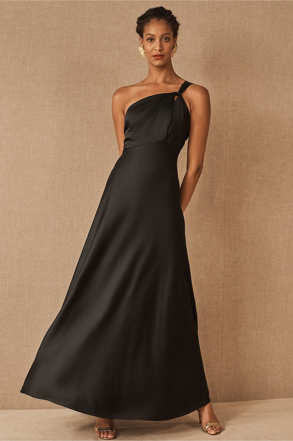 BHLDN Ashland Satin Charmeuse Dress
