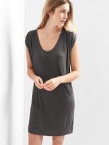 Drapey sleeveless scoop-neck dress