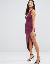 AX Paris Asymmetric Maxi Dress In Slinky