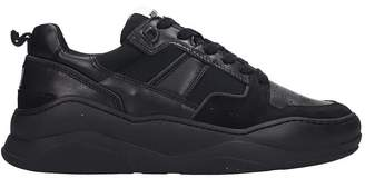 Ami Alexandre Mattiussi Sneakers In Black Leather And Fabric