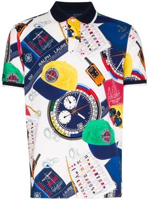 Polo Ralph Lauren Yacht Print Polo Shirt