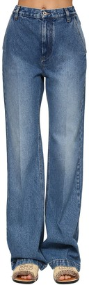Loewe High Waist Flared Cotton Denim Jeans