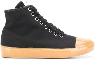 Marni Hi-Top Canvas Sneakers