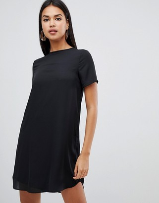 ASOS DESIGN sheer shift mini dress