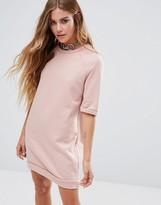 Glamorous Short Sleeve Oversized Sweat Dress