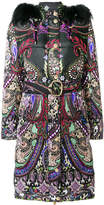 Roberto Cavalli paisley print puffer coat