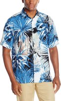 Cubavera Cuba Vera Men's Short Sleeve All Over Foliage Print Woven Shirt