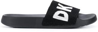 DKNY Zax logo band slides