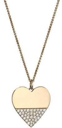 Nina Gilin Heart Diamond & 14K Yellow Gold Pendant