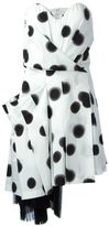 Marc by Marc Jacobs blurred dot strapless dress