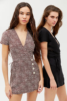 Urban Outfitters Missy Surplice Button-Front Romper