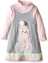 Bonnie Jean Little Girls' Snowman Sweater Jumper