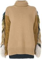 Agnona mixed roll neck jumper