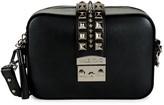 Mario Valentino Lila Studded Leather Crossbody Bag