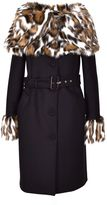 Moschino Fur Trimmed Coat