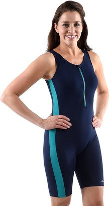 Plus Size Dolfin Colorblock Aquatard One-Piece Swimsuit