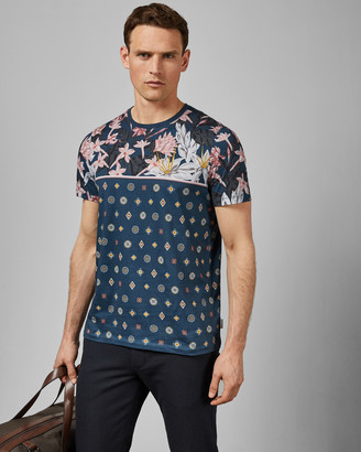 Ted Baker LYME Floral printed cotton T-shirt