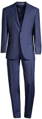 Canali Single-Breasted Wool Pinstripe Suit