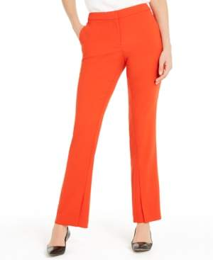 Alfani Slit-Hem Boot-Cut Pants, Created For Macy's